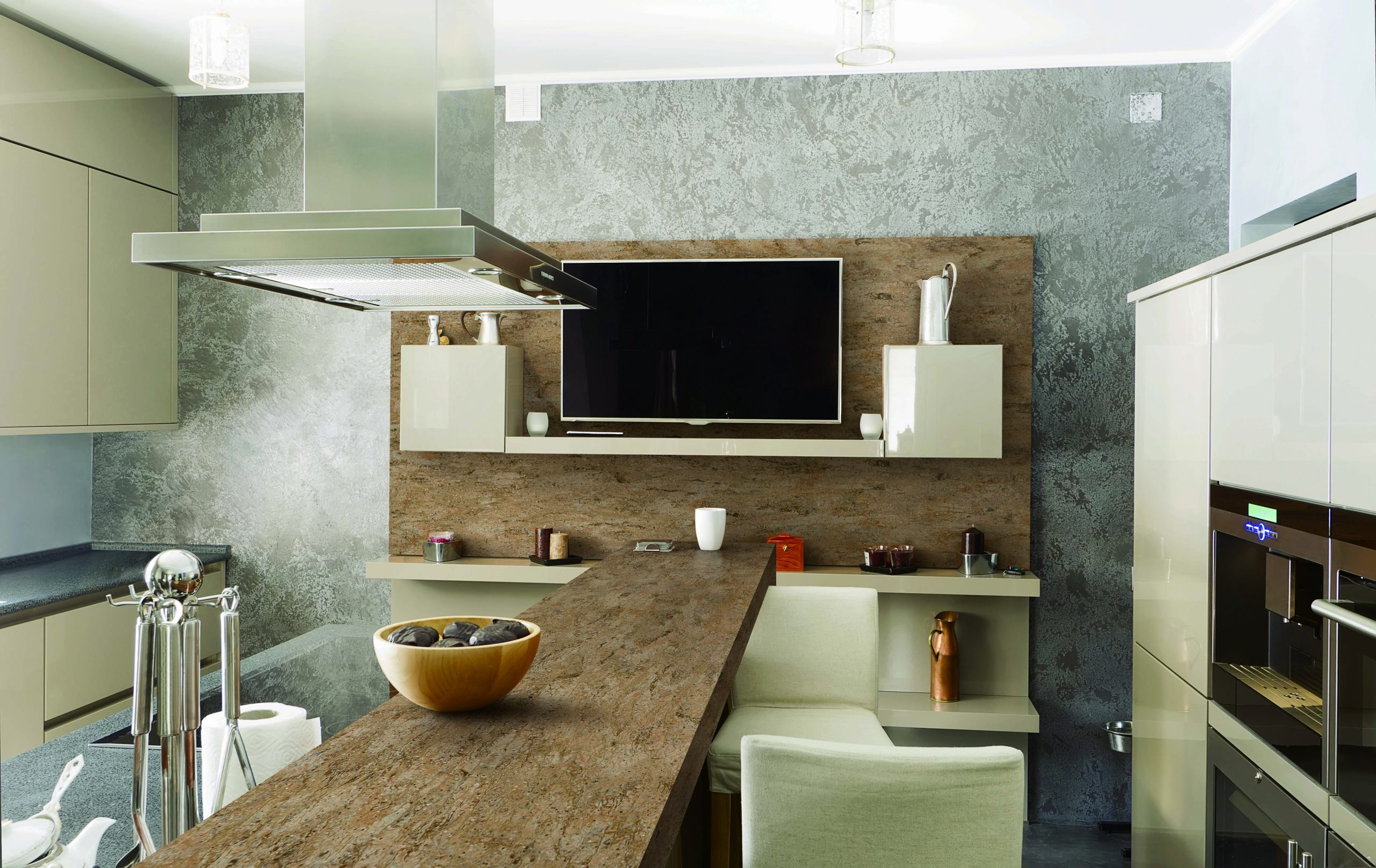 kitchen with hanex albero countertops