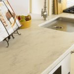 beige solid surface countertop
