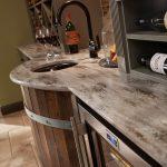 kitchen with corian hazelnut countertops