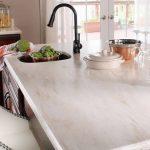 corian kitchen countertop in witch hazel