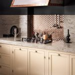 kitchen with corian countertop