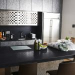 kitchen with corian inkwell countertops