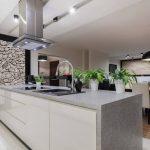 kitchen with corian deep smokey pearl countertop