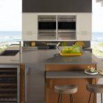 kitchen with corian deep mink countertops