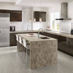 kitchen with corian riverbed countertops