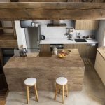 above view of kitchen with hanex countertops