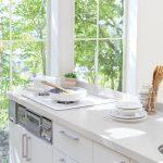 kitchen with hanex countertop in clara