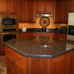 black solid surface kitchen countertops with island made by hanex