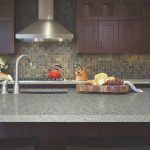 kitchen with hanex solid surface countertop color cloudy