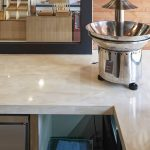 hanex solid surface countertop with chocolate countain