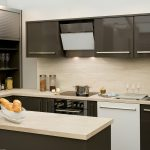 kitchen with hanex romano solid surface countertops