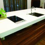 hanex modern kitchen island countertop and sink