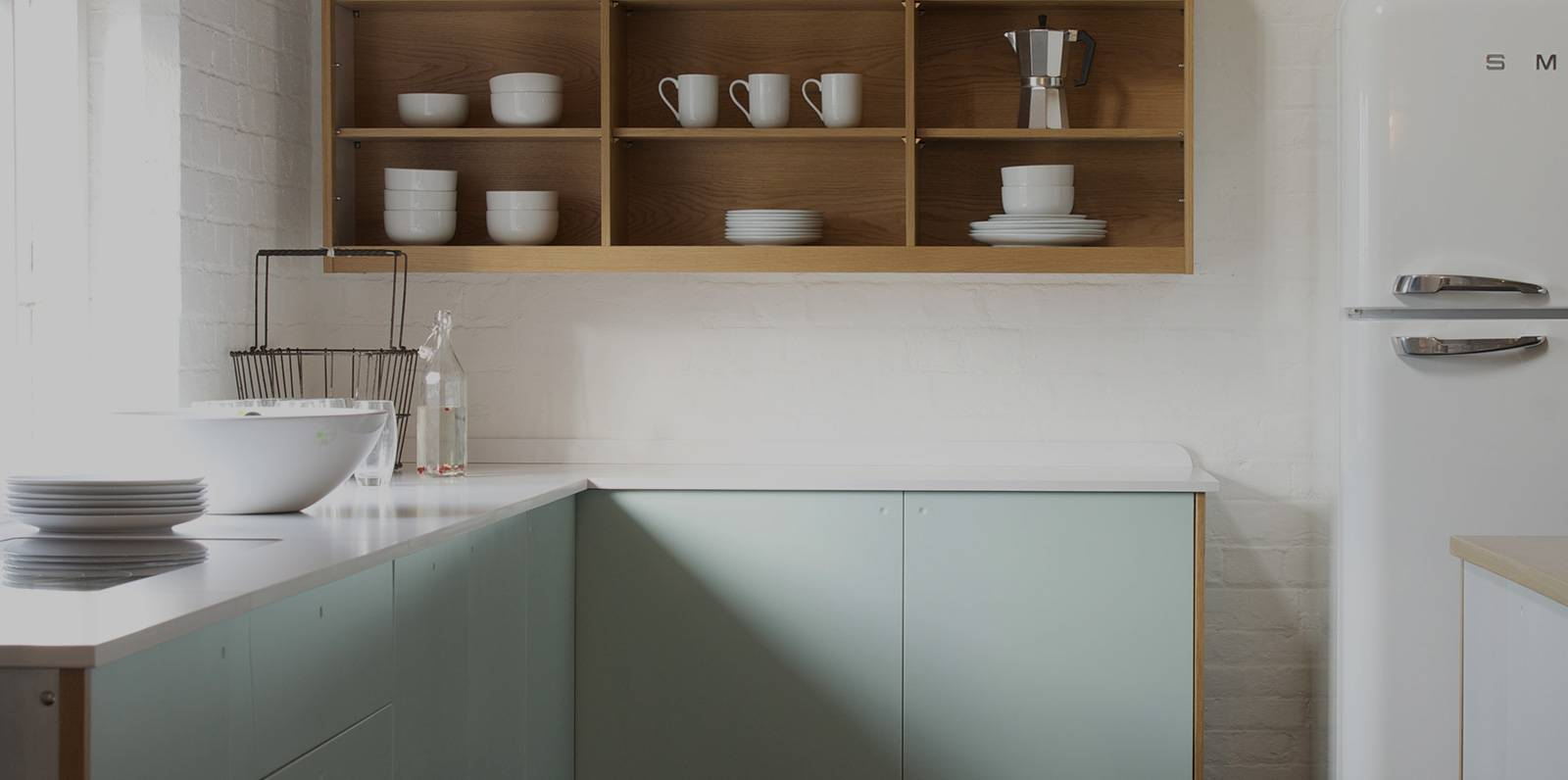 kitchen counter with himacs countertop