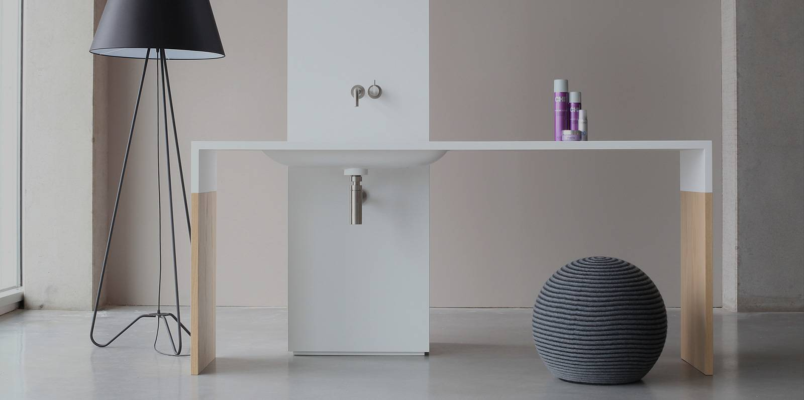 modern himacs counter and sink