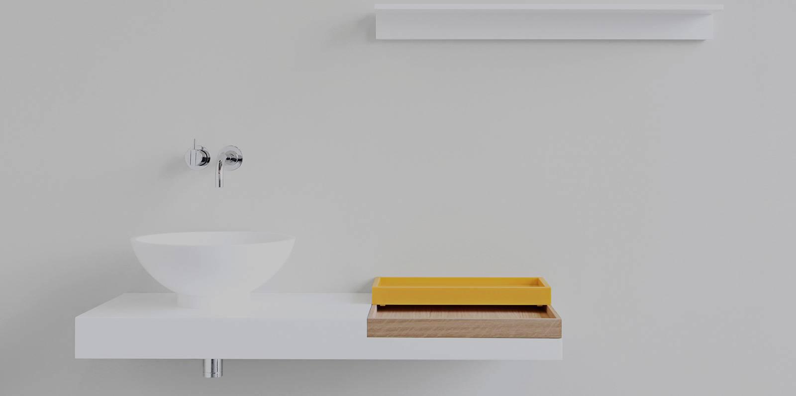modern himacs sink
