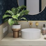 modern bathroom counter and sink by meganite