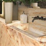 meganite bathroom countertop and sink