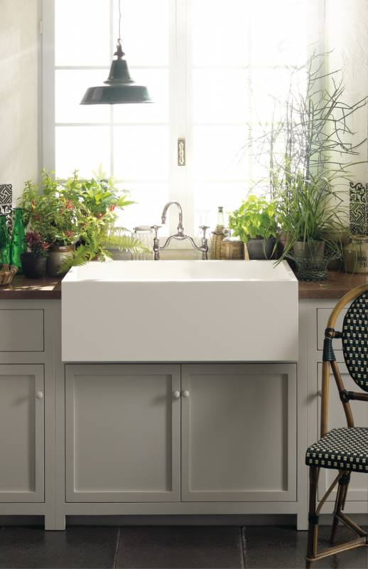 Corian solid surface country farm sink