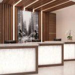 reception area with wilsonart countertops