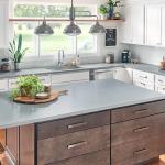 kitchen with wilsonart silversmoke countertops