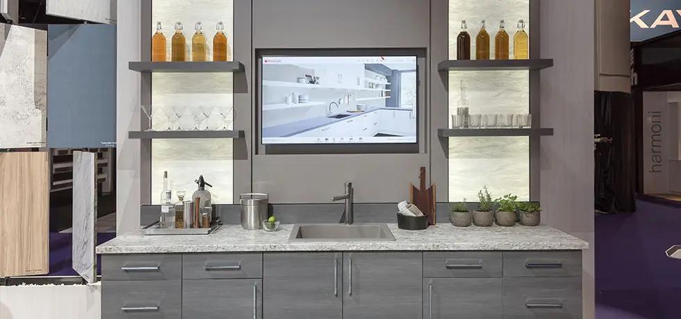 kitchen with wilsonart countertops