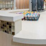 medical reception countertop installation