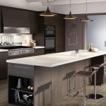 wilsonart solid surface countertop in a kitchen